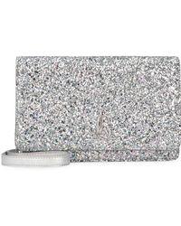 Jimmy Choo Palace Glitter Fabric Clutch - Metallic