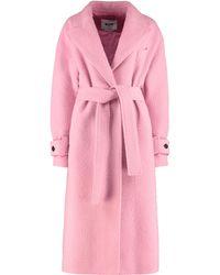 MSGM Cappotto in misto lana - Rosa