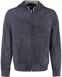 Brunello Cucinelli Suede Jacket - Blue