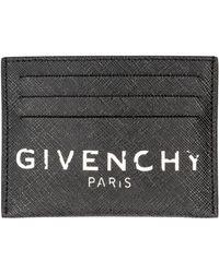 Givenchy Portacarte in tela spalmata - Nero