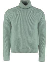 BOSS by HUGO BOSS Gilo Turtleneck Virgin-wool Pullover - Green