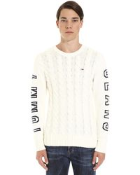 Tommy Hilfiger Cable-knit Jumper - White