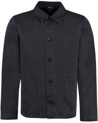 A.P.C. Cotton Overshirt - Blue