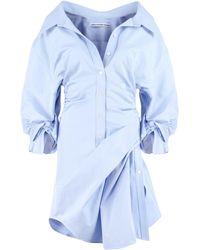 Alexander Wang Cotton Asymmetric Shirtdress - Blue