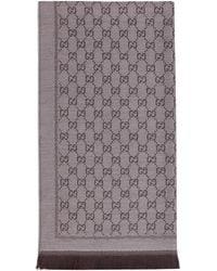 Gucci Wool GG Jacquard Scarf - Natural