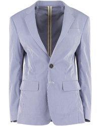 DSquared² Blazer in cotone motivo Vichy - Blu