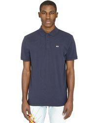 Tommy Hilfiger Stretch Cotton Piqué Polo Shirt - Blue