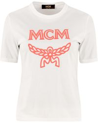 MCM T-shirt in cotone con logo - Bianco