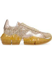 Jimmy Choo Diamond Glitter Sneakers - Metallic