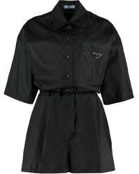 Prada Techno Fabric Jumpsuit - Black