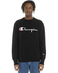 Champion Big Script Crew Neck Sweatshirt - Black