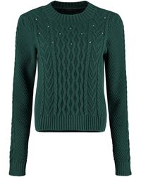Weekend by Maxmara Ennio Cable Knit Pullover - Green