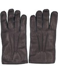 Alexander McQueen Leather Gloves - Black