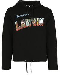 Lanvin Logo Hoodie - Black