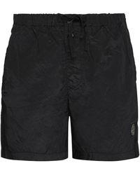 Stone Island Shorts da mare in nylon metal - Nero