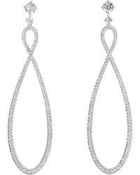 Swarovski Orecchini Infinity con cristalli - Metallizzato