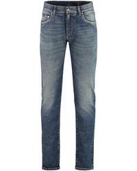 Dolce & Gabbana 5-pocket Slim Fit Jeans - Blue