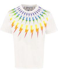 Neil Barrett Thunderbolt Print Jersey T-shirt - White