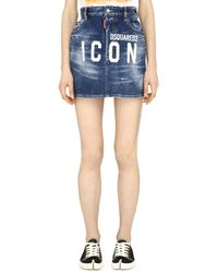 DSquared² Minigonna in denim - Blu