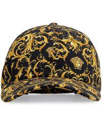 Versace Baroque-print Baseball Cap - Black