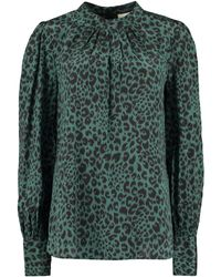 Zimmermann Printed Silk Blouse - Green
