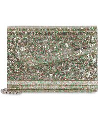 Jimmy Choo Clutch rigida Candy glitterata - Verde