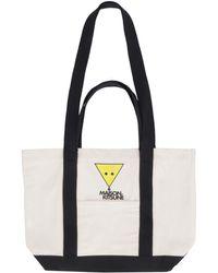 Maison Kitsuné Tote bag con logo - Neutro