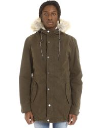 Tommy Hilfiger Parka With Removable Padding - Green