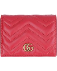 Gucci - Marmont Leather Wallet - Lyst