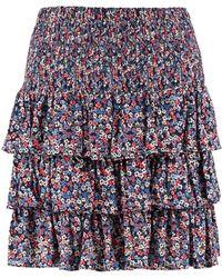 MICHAEL Michael Kors Ruffled Mini Skirt - Blue