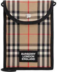 Burberry Fabric Phone Holder - Natural