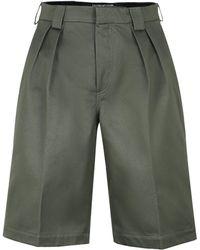 Jacquemus Cotton Bermuda Shorts - Green