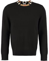 Burberry Crew-neck Cashmere Jumper - Black