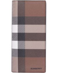 Burberry E-canvas Continental Wallet - Brown