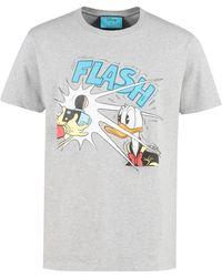 Gucci Cotton Crew-neck T-shirt - Donald Duck Disney X - Gray