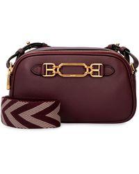 Bally Venni Leather Shoulder Bag - Purple