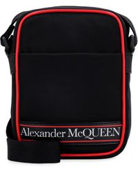 Alexander McQueen MESSENGER MINI LOGO - Nero