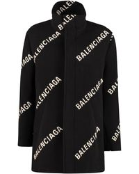 Balenciaga Wool And Cashmere Coat - Black