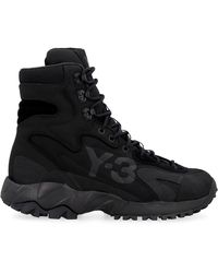 Y-3 Notoma Lace-up Ankle Boots - Black