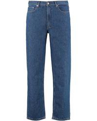 A.P.C. Jeans straight leg Martin - Blu