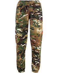 Heron Preston Track-pants in cotone stretch - Verde