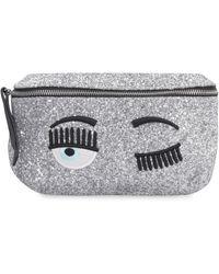 Chiara Ferragni Flirting Glittered Belt Bag - Metallic