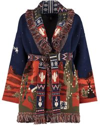 Alanui Cardigan in lana e cachemire - Blu