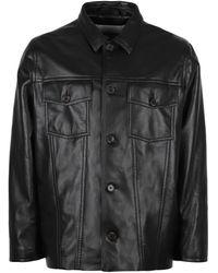 Nanushka Cody Leather Jacket - Black
