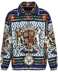 Dolce & Gabbana Techno Fabric Jacket - Blue
