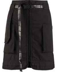 Aries Cotton Cargo Skirt - Black