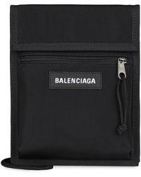 Balenciaga Explorer Nylon Pouch Strap - Black