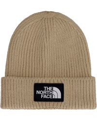 The North Face Logo Wool Beanie - Natural