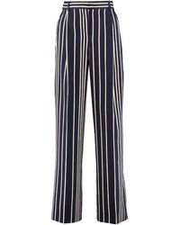 Weekend by Maxmara Pina Striped Palazzo Trousers - Blue