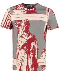 Ferragamo Printed Stretch Cotton T-shirt - Multicolor